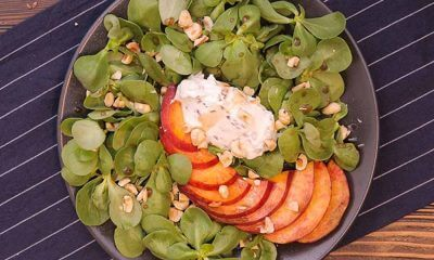 Şeftalili Semizotu Salatası