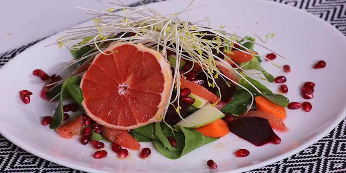 Greyfurt Soslu Kış Salatası